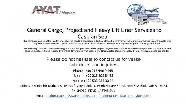 CASPIAN SHIPMENT WILL ST
